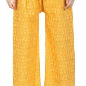 Spodnie bawelna zolte S/M (227)
