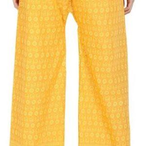 Spodnie bawelna zolte S/M
