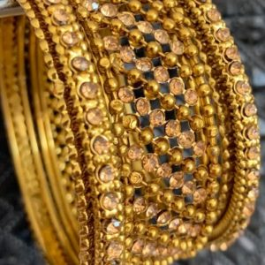 Bransoletki bangle zlote cyrkonie 6 cm