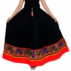 Spodnica czarno kolorwa bawelna
