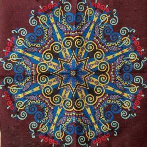 Poszewka na poduszke mandala 40×40 cm T1