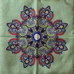 Poszewka na poduszke mandala 40×40 cm