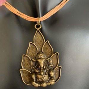 Ganesh naszyjnik stare zloto