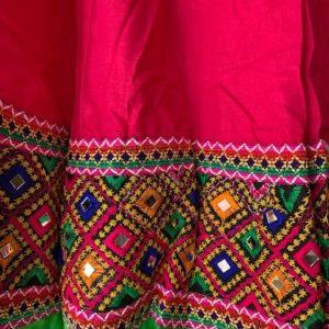 Spodnica rozowo kolorowa bawelna lusterka