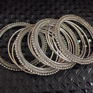 Bransoletki srebrne metalowe 6,4
