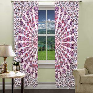 Zaslony bialo kolorowe 2x 100 cm dl 206