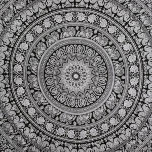 Przescieradlo mandala, bawelna 137×200 cm