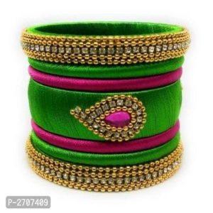 Bransoletki bangle zloto zielono rozowe, cyrkonie 6,5 cm