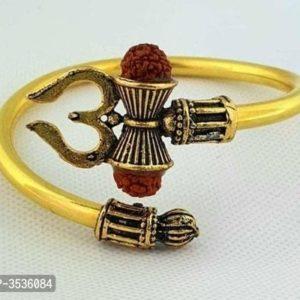 Bransoletka zlota znak Shiva z Rudraksha 523