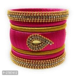 Bransoletki bangle zloto rozowe, cyrkonie 6,5 cm