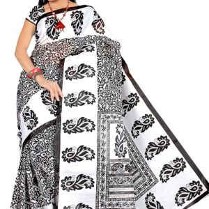 Sari bialo czarne wzory 039