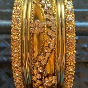 Bransoletki bangle zlote cyrkonie 6,5 cm