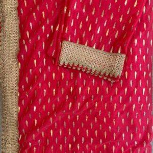 Sari rozowe ze zlotem