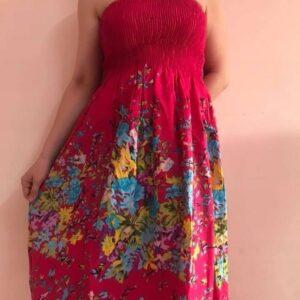 Spodnica sukienka kolorowa bawelna (203)