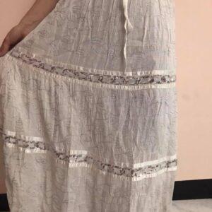 Spodnica bawelna biala (201)