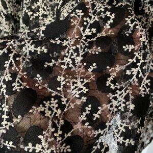 Spodnica czarna w biale wzory S/M (194)