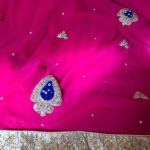 Sari rozowe ze zlotem  010
