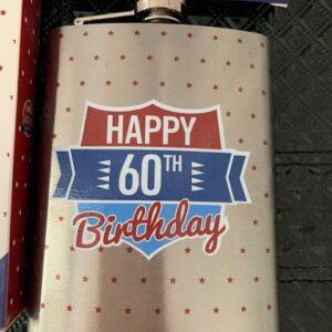 Piersiowka butelka ze stali 60 urodziny
