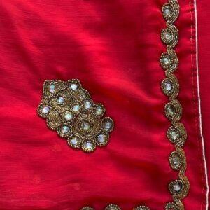 Sari ciemno czerwone, koraliki 061