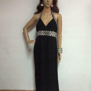 Sukienka czarna ze srebrem (218)