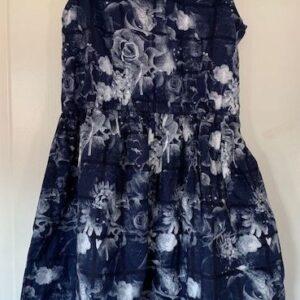 Sukienka kwiaty kolnierzyk 7-8 lat (301)