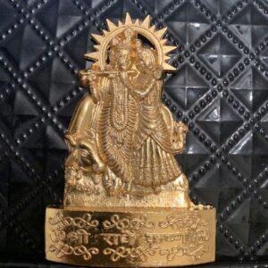 Krishna i Radha metalowa modlitwa auto 530