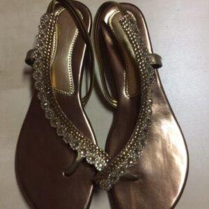 Sandalki brazowo zlote roz 38 (333)