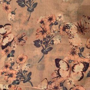 Szal kolorowy wzor kwiaty motyle (306)
