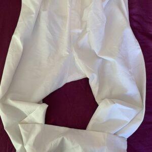 Spodnie meskie biale waskie (435)