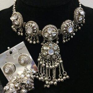 Komplet bizuterii  tribal srebrny 607