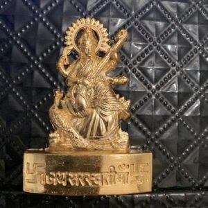 Saraswati metalowa modlitwa auto (524)