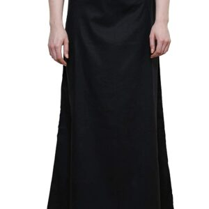 Halka pod sari czarna bawelna  T72