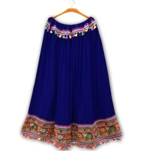 Spodnica niebiesko kolorowa lusterka  T12