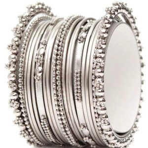 Bangle metalowe srebrne 6,5 cm T59