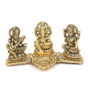 Lakshmi-Ganesh-Saraswati- figurki z podstawka na swieczke T37