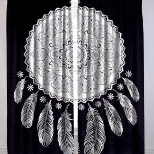 Zaslony bialo czarne mandala  200 x 208 T11