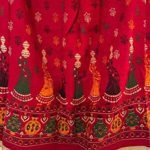 Spodnica kolorowa, zlota tasma bawelna T68