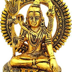 Lord Shiva figurka metal złoto Indie S027