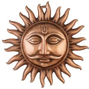 Słońce wiszące metal złote Indie S004