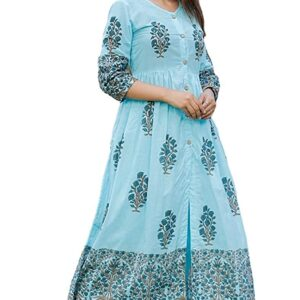 Sukienka wzór kwiaty bawełna M/L  Indie S113