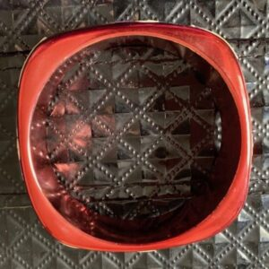 Bransoletka czerwona recznie malowana Indie