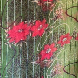 Sari kolorowe wzor kwiaty Indie