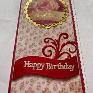 Kartka urodzinowa  mała A016