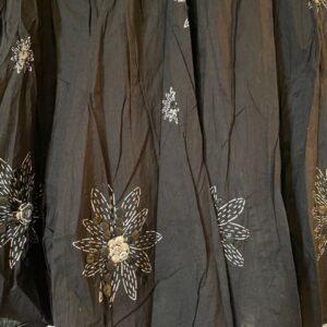 Spódnica bawełna czarna Indie A055