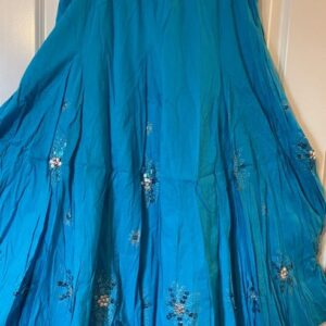 Spódnica bawełna niebieska Indie A056