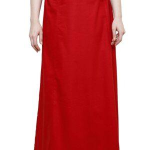 Halka pod sari czerwona  bawelna A064