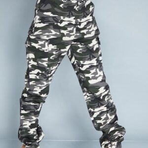 Spodnie moro firmowe, kieszenie XS/ S (A043)