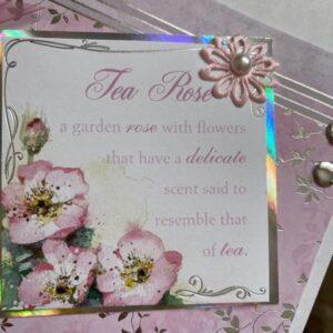 Duża kartka urodzinowa Tea Rose A001