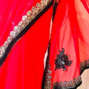 Sari czerwono czarne 008