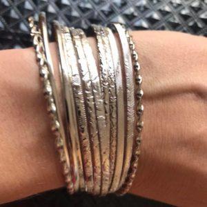 Bransoletki srebrne zestaw 11 szt 7,5 cm